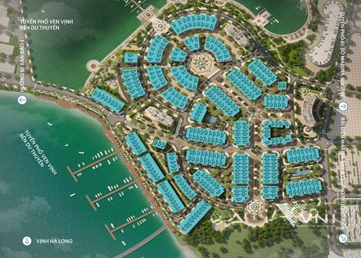 Mặt bằng tổng thể dự án Harbor Bay