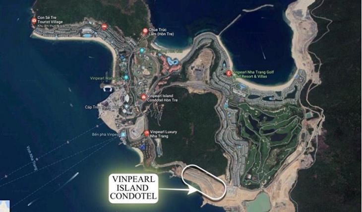Vị trí dự án Vinpearl Condotel Hòn Tre Nha Trang