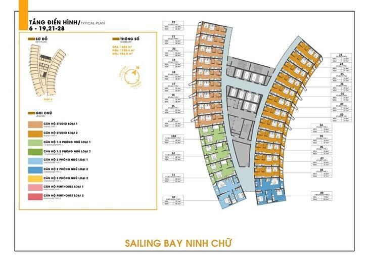 Mặt bằng dự án Codotel Ninh Chữ Sailing Bay Ninh Thuận