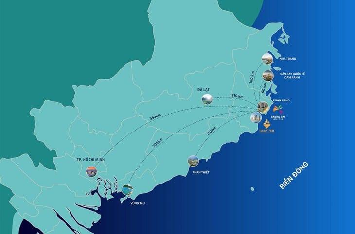 Sơ đồ Vị trí dự án Codotel Ninh Chữ Sailing Bay Ninh Thuận