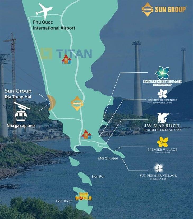 Vị trí dự án Condotel Địa Trung Hải